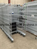 Hot Galvanized 3-Sides Roll container with Plastic Base