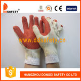 Ddsafety 2017 Red Rubber Coated Cotton Gloves with Competitive Price