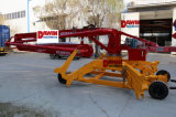17m 4 Wheels Trailer Mobile Concrete Placing Boom Distributor with Proportional Cordless Remote Control
