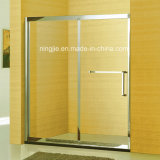 Family Bathroom One Fixed One Sliding Shower Screen (A-8941B)