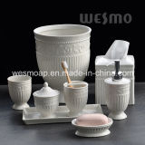 Embossed Porcelain Bathroom Set (WBC0579A)