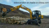 Baoding 8.5 Tons New Yellow Small Machinery Wheel Excavators