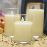 Hot Sale Moving Flame Glass Candle Tube
