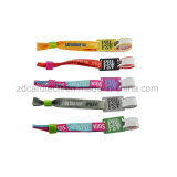 13.56MHz NFC Fabric RFID Woven Wristband for Festival Concert Sports Events