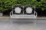 Two Seats Patio Bench with Antiwhite Color
