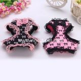 Saxy Pink&Black Lace Pet Dog Harness