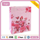 Coated Paper Pink Flowers and Butterflies Sweet Candy Shopping Gift Bag