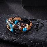 Adjustable Handmade Braided Beaded Leather Bracelet Fashion Jewelry