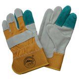 Reinforcement Cow Split Leather Working Safety Gloves