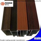 Polyester Powder Coating Wood Finish Aluminum Profile