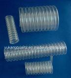 Good Transmittance Clear Spiral/Helix/Helical Quartz Tube