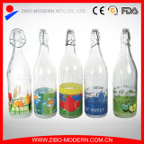 Wholesale Cheap Clear Glass Soft Drink Storage Bottle 1000ml for Milk