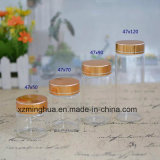 Clear Tube Glass Bottle with Aluminum Screw Cap