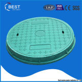 En124 B125 BMC Composite Green Circle Manhole Cover for Sale