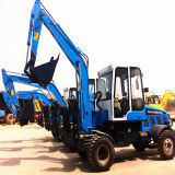 5 Tons 0.25 M3 Bucket Yto Engine Mini Wheel Excavator
