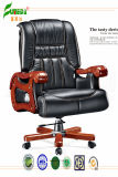 Swivel Leather Executive Office Chair with Solid Wood Foot (FY1306)