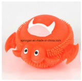 Kids Plastic Toy with Flash Fuzzy Ball Crab