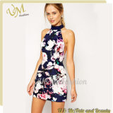 Summer Fashion Women Floral Print Bandage Dress