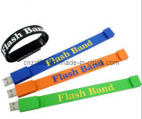 2014 Silk Screen Printed USB Silicone Wristband (SUW-002)