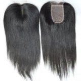 Middle Part Brazilian Virgin Remy Straight Silk Top Lace Closure