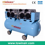 China 4HP Air Compressor Silent and Oil Free Tw7504