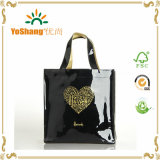 Hot Sale Famous Shiny PVC Handled Harrods Shopping Tote Bags