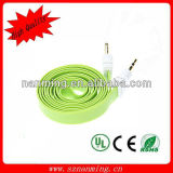 3.5mm Stereo Male to Male Flat Noodle Car Aux Cable for iPhone