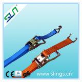 Sln Ratchet Strap with Aluminium Handle and Flat Hook