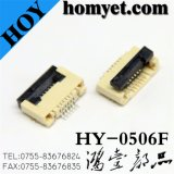 0.5mm 6pin Flat Cable FPC Connector for Machine (HY-0506F)