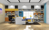 Pritical White Color Book Case Study Room Furniture (zj-005)
