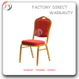 Red Fabric Golden Tube Reception Chairs (BC-40)