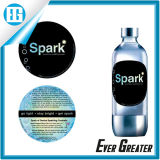 Simple Circular Pattern Bottle Text Double Sided Stickers