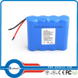 7.4V 4400mAh 18650 Lithium Cylindrical Battery Pack