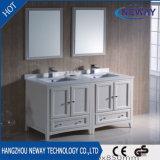 High Quality White Wood Ceramic Basin Bathroom Vanity Cabinets
