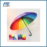 Hot Sale Outdoor Custom Printing Business Rainbow Big Umbrella