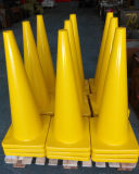Yellow 90cm Reflective Flexible Cone
