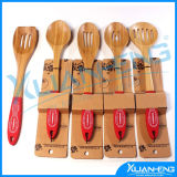 Natural Bamboo 5 Piece Kitchen Utensil Cooking Set