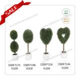 Best Sell Mini Plastic Ornamental Topiary Plants Cherry Blossom Tree H10-19cm