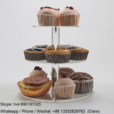 Transparent Acrylic Cup Cakes Display Stand