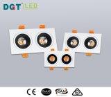 2 Head Adjustable LED COB Spotlight with Ce, SAA, RoHS