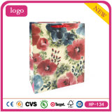 Coated Paper Colorful Flowers Gift Bag
