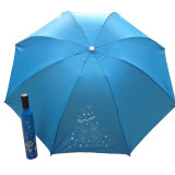 Personalized Printing Manul Open Wine Bottle Shaped Deco Umbrella for Promotional