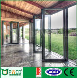Aluminium Profile Folding Door with Double Glazed for Sale