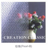 4mm Clear Pearl-B Patterned Glass 1830*2440mm Ce ISO9001