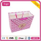 White Card Paper Pink Diamond Shopping Bag