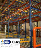 Gravity Flow-Through Shelving for Warehouse Storage