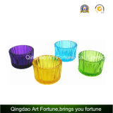 Small Ribbled Glass Tealight Candle Holder Cup for Home Decor