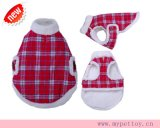 Plaid Fuzzy Dog Clothes Thermal Coat