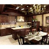 2016 Welbom Classical Walnut Coffee Glazed Kitchen Cabinet