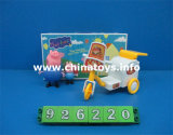 Promotional Toys Soft Plastic Pig with Transfer Trolley (926220)